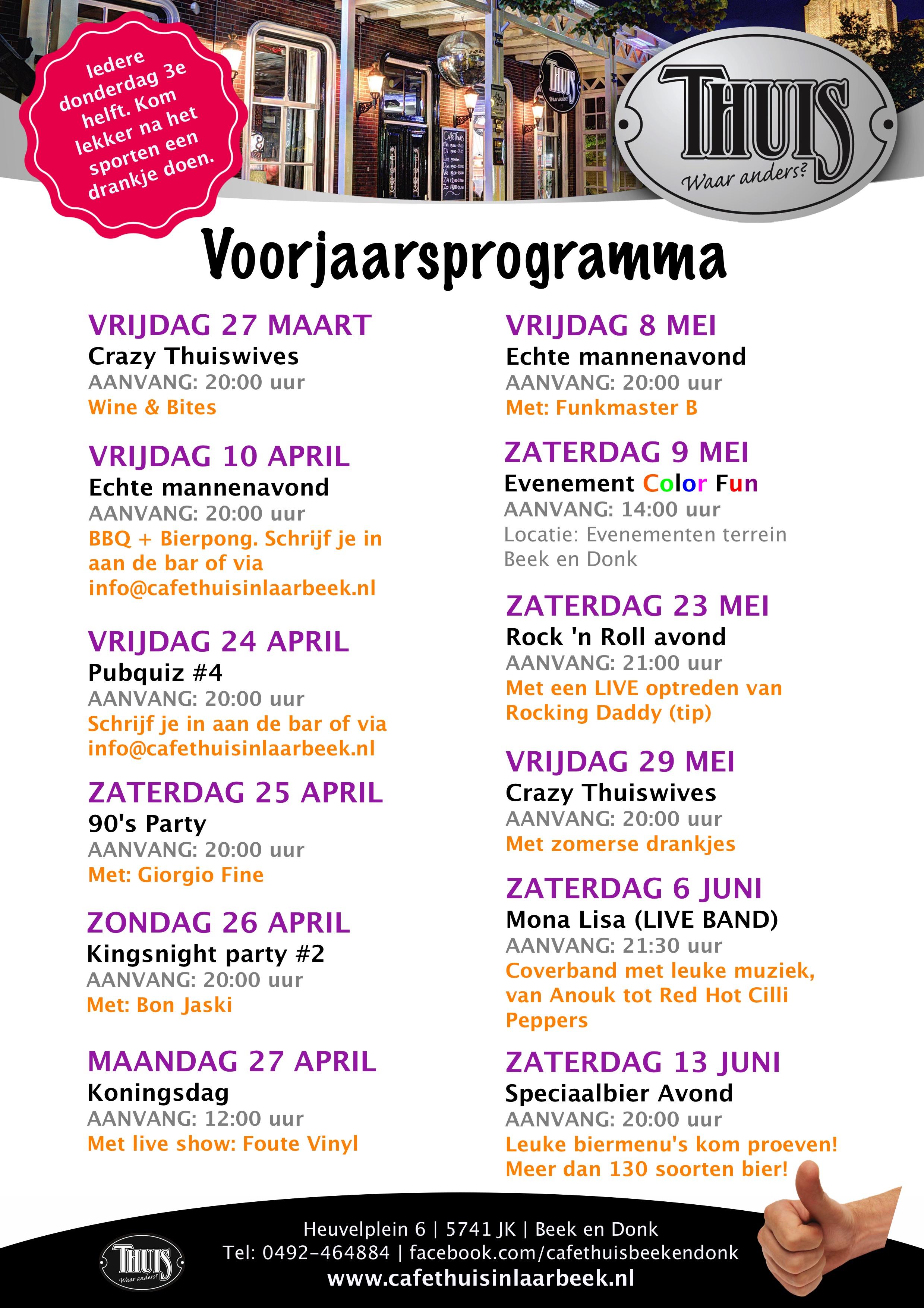 Voorjaarsprogramma 31 maart