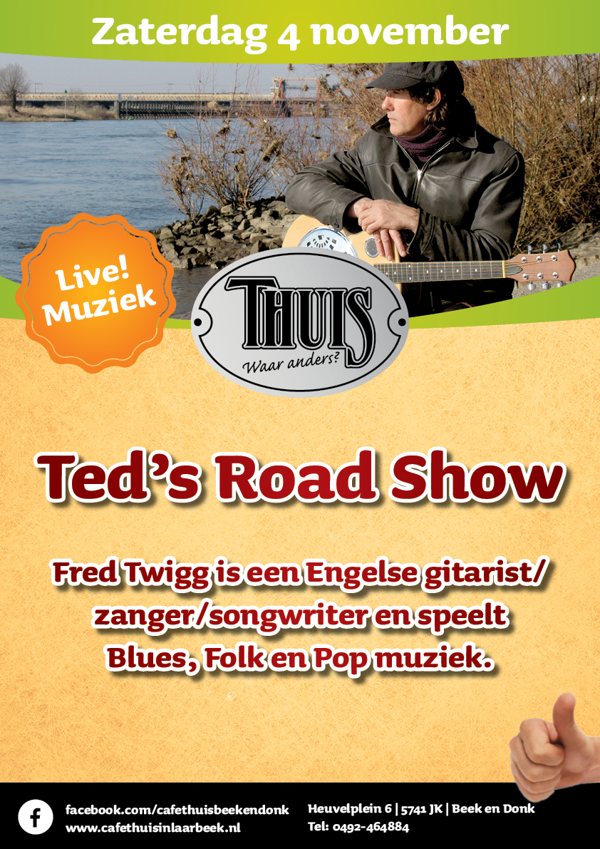 A3 Cafe Thuis - Ted's Road Show