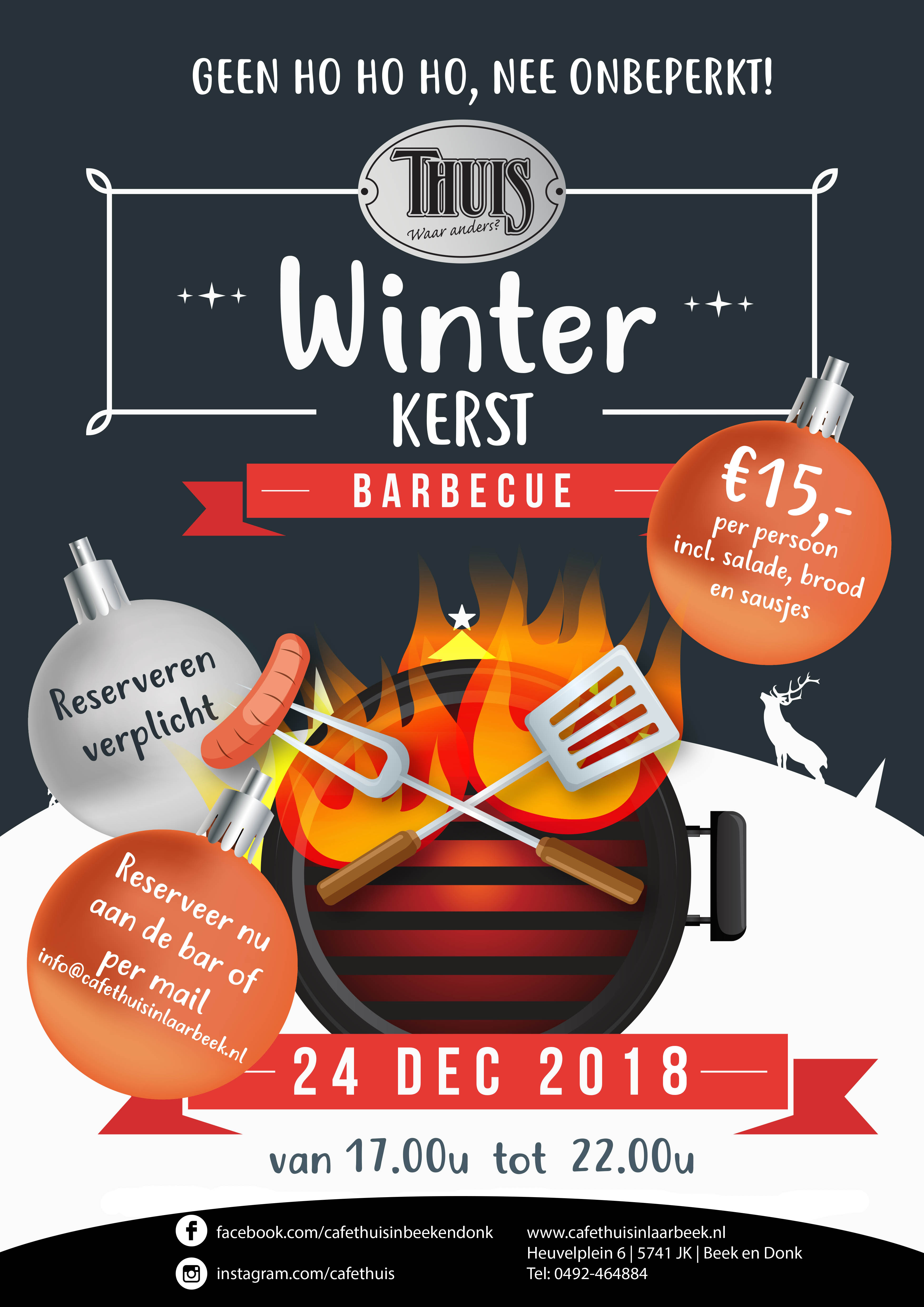 Winter bbq poster